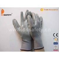 Grey nylon with grey nitrile glove-DNN341
