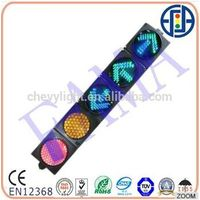 200mm Traffic Light Red & Yellow Full Ball light + 3 green arrows light