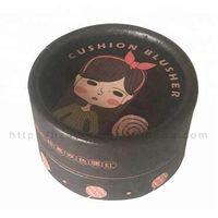 Recycled Material Custom Printed Cosmetic Cardboard Tubes with EVA foam Cushion Brusher Paper