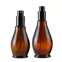 30ml Upscale Empty Amber Glass Press Pump Bottles Container for Cosmetic Cream thumbnail image