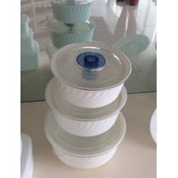 Opal Glass White Salad Bowl Sets