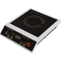 3500W Commercial stainless steel single induction cooker black crystal plate thumbnail image