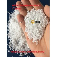 White Limestone Sands Calcium Carbonate Granule variety sizes from 0.2mm - 3 mm - MHS3