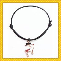 colorful deer metal alloy charm bracelet