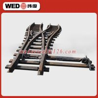 WEDO railway fabricated crossing turnouts
