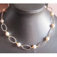Sterling Silver Jewelry 925 Silver Chain with Pearl Necklace (N-028) thumbnail image
