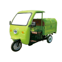 Electric three wheeled cleaning vehicle (with sunshade) thumbnail image