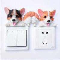 Resin cute corgi dog wall decor decorative Switch plate cover thumbnail image