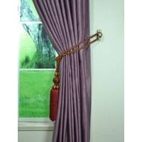 Swan 3D Embossed Europe Floral Custom Made Curtains