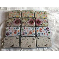 Nature beautiful flower bird Printed stationery Tin Box