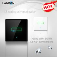 LANBON smart home WIFI light switch 1/2/3 gang switch ,touch switch,remote controlled by android or