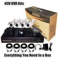 4 CCD&DVR CCTV security Kits Recorder (SV60-DK04W242)