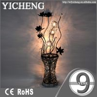 china high quality flower indoor modern led table lamps