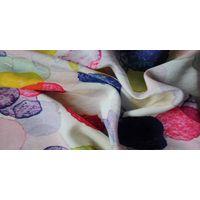 Flower Plain Woven Rayon Fabric