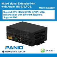 CM5500 Universal HDBaseT Extender 70m , with Audio RS-232 POE
