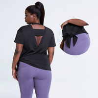 Loose Quick Dry Gym T Shirt Women's Running Plus Size Gym Wear Yoga Tops Sports Fitness Clothes