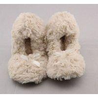 Kids slinky rose fur elastic topline ballerina slippers