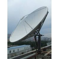 TDT 3.7m Ku-band satellite communication receiving dish antenna with 2-port feed thumbnail image
