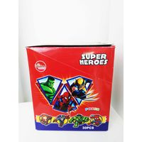 Super Heroes Powder Candy with poker funny and healthy