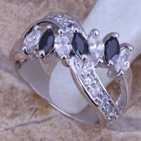 Lord of the rings gemstone ring bijouterie fashion jewelry