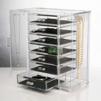 Large Acrylic Clear Cosmetic MakeUp Organiser Display Jewelry Drawer Boxes storage thumbnail image