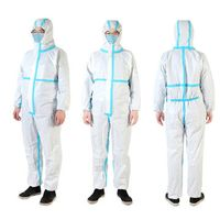 ISO13485,CE by FDA Medical Protective Clothing medical White Disposable microporous coveralls xl