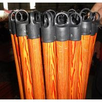 PVC coated broom wooden stick