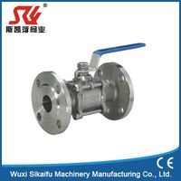 CE ISO Standard Flange Manual Stainless Ball Valve