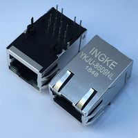 J1012F21KNL Single Port Through Hole 100 Base-TX RJ45 LAN Jacks with Integrated Magnetics