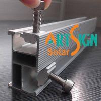 Aluminium solar rails