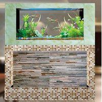Ceramic flowers mosaic + jade grain glsss waterfall thumbnail image