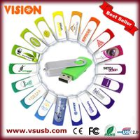Hot selling OEM Swivel USB Flash Drive With Free Logo and free shipping