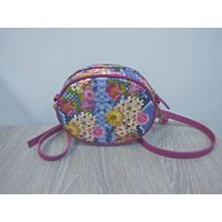 small round shoulder bag for women messenger bags ladies PU leather handbag purse