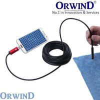 NEW ORWIND SNAKE LENS Portable Flexible USB Endoscope Borescope Snake Mini 10mm Lens 4 LED IP67 Wa
