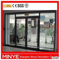 front design aluminum frame glass window and door with door closer