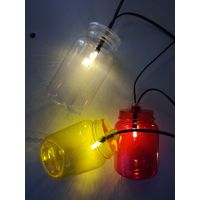 clear bottle battery light string