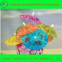 Cocktail Food & Drink Umbrella Party Picks, Umbrella Toothpick thumbnail image