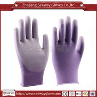 SeeWay 810 15gauge Cleanroom Nylon and PU Palm Coated Working Gloves