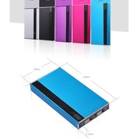 Good quality dual usb 6800mAh portable metal slim power bank with led light  & Money Dedecor for tra