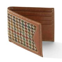 Men's Tweed Leather Wallet/genuine leather wallet/Tweed wallet/men wallet