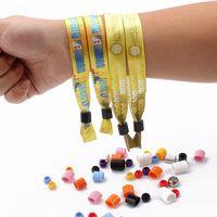Professional factory direct sale custom festival fabric wristbands no minimum order thumbnail image