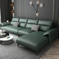 Contemporary Living Room Furniture L Shape Chaise Lounge Sofa Couch Faux Leather Modern Sectional So thumbnail image