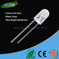Over 20 Years Experience Ultra Bright High Quality 5mm*8.6 Oval Lamp Led Diode Light