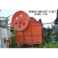 "USED ""KEMCO"" MODEL S6N (42"" X 30"") SINGLE TOGGLE JAW CRUSHER S/NO. 1114"