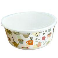 Eco Friendly Reusable Bamboo Fiber Tableware Take Away Covered Soup Bowl thumbnail image