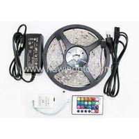 RGB LED Strip 5M 300Led 3528 SMD + 24Key IR Remote Controller Flexible Light Led Tape DC 12V Home De thumbnail image