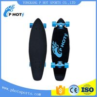 single kick custom design wooden mini longboard skateboard