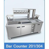 Commercial Stainless Steel Ccustom-made working table counter, bar counter design