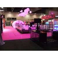 Orange carpet exhibition for stands, aisle, events, marquee, show, party