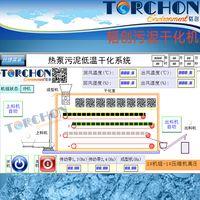 TORCHON brand Heat pump low temperature belt type sludge dryer sewage wastewater treatment sludge thumbnail image